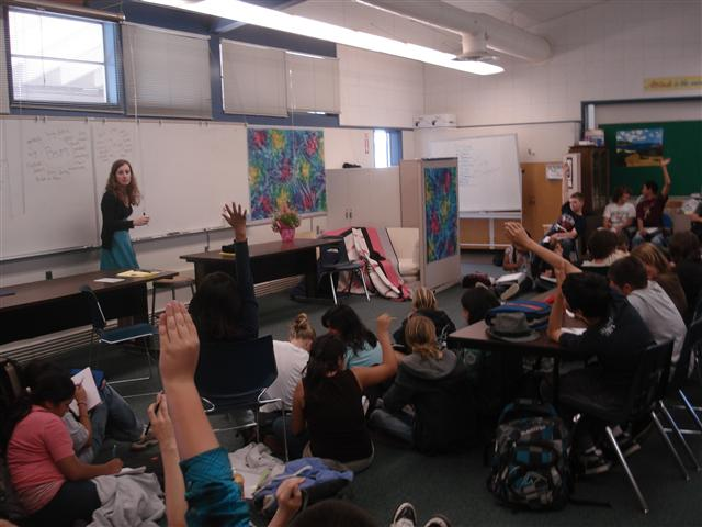 book talks at Cabrillo Middle School